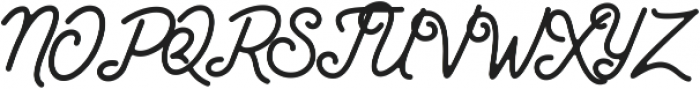 Santana Script otf (400) Font UPPERCASE