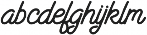 Santana Script otf (400) Font LOWERCASE