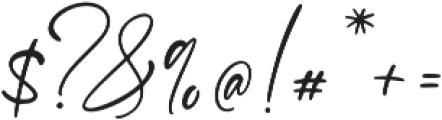 Santana otf (400) Font OTHER CHARS