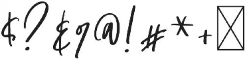 Santonelly Regular otf (400) Font OTHER CHARS