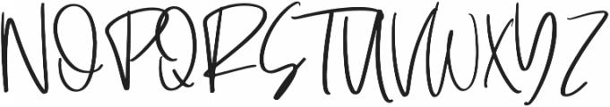 Santonelly Regular otf (400) Font UPPERCASE