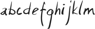Santos Regular otf (400) Font LOWERCASE
