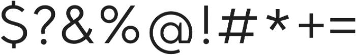 Santral otf (400) Font OTHER CHARS