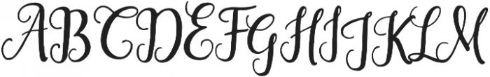 Saphira Script Regular otf (400) Font UPPERCASE