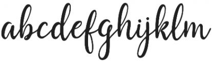 Saphira Script Regular otf (400) Font LOWERCASE