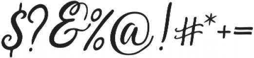 Saphira Script Slant Reguler Italic otf (400) Font OTHER CHARS