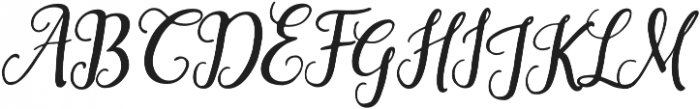 Saphira Script Slant Reguler Italic otf (400) Font UPPERCASE