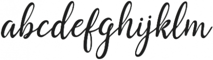 Saphira Script Slant Reguler Italic otf (400) Font LOWERCASE