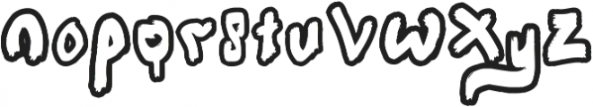 Sapoetry otf (400) Font LOWERCASE