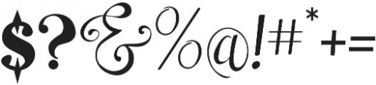 Sara Script otf (400) Font OTHER CHARS