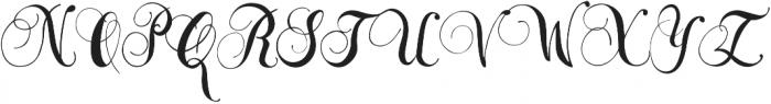 Sara Script otf (400) Font UPPERCASE