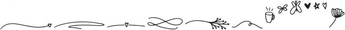 Saskia Extras Regular ttf (400) Font UPPERCASE