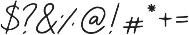 Saskia Regular otf (400) Font OTHER CHARS