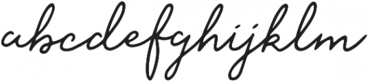 Saskia Regular otf (400) Font LOWERCASE