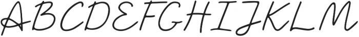 Saskia Regular ttf (400) Font UPPERCASE