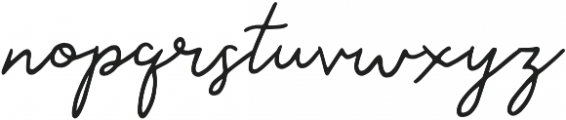 Saskia Regular ttf (400) Font LOWERCASE