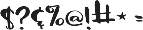 Sassy Regular otf (400) Font OTHER CHARS
