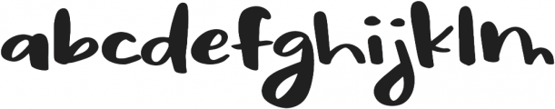 Sassy Regular otf (400) Font LOWERCASE