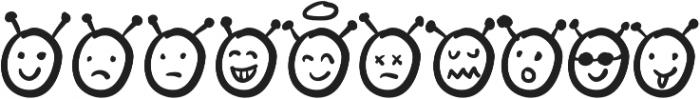 Sathar Emoticon otf (400) Font LOWERCASE