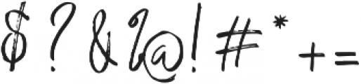 Saturday Lovin Regular otf (400) Font OTHER CHARS