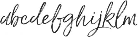 Saturday Script Oblique Alt2 otf (400) Font LOWERCASE