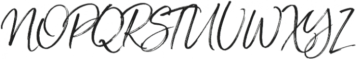 Saturday Script Oblique otf (400) Font UPPERCASE
