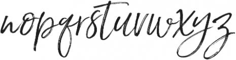 Saturday Script Oblique otf (400) Font LOWERCASE