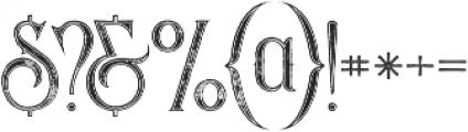 Savana Inline Grunge otf (400) Font OTHER CHARS
