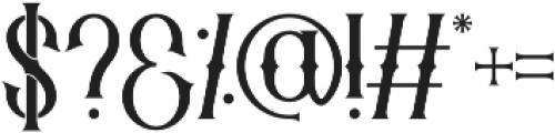 Savaro Spurs otf (400) Font OTHER CHARS
