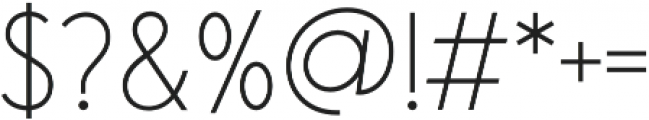 Saveur Sans Light otf (300) Font OTHER CHARS