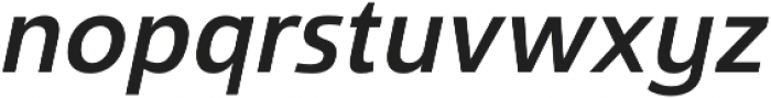 Savigny Medium Norm Italic otf (500) Font LOWERCASE