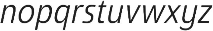 Savigny Regular Cond Italic otf (400) Font LOWERCASE