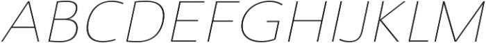 Savigny Thin Ext Italic otf (100) Font UPPERCASE
