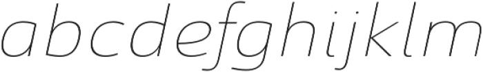 Savigny Thin Ext Italic otf (100) Font LOWERCASE