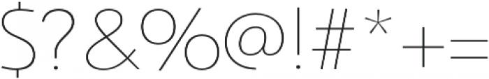 Savigny Thin Norm otf (100) Font OTHER CHARS