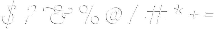 Savoiardi - shadow script otf (400) Font OTHER CHARS