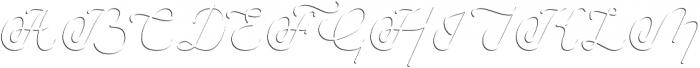 Savoiardi - shadow script otf (400) Font UPPERCASE