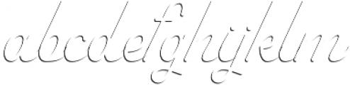Savoiardi - shadow script otf (400) Font LOWERCASE