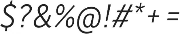 Saya FY Light Italic otf (300) Font OTHER CHARS