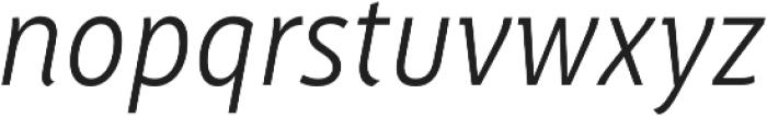 Saya FY Light Italic otf (300) Font LOWERCASE