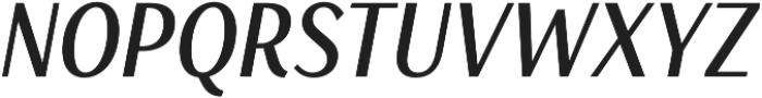 Saya SemiSans FY Medium Italic otf (500) Font UPPERCASE