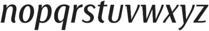 Saya SemiSans FY Medium Italic otf (500) Font LOWERCASE