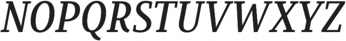 Saya Serif FY Medium Italic otf (500) Font UPPERCASE