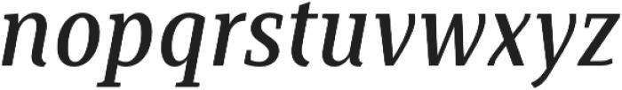 Saya Serif FY Medium Italic otf (500) Font LOWERCASE