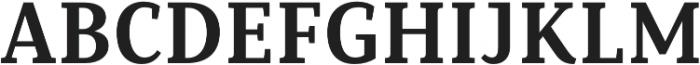 Saya Serif FY otf (700) Font UPPERCASE