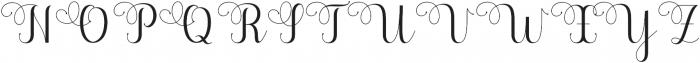 Saythis Script Upright otf (400) Font UPPERCASE
