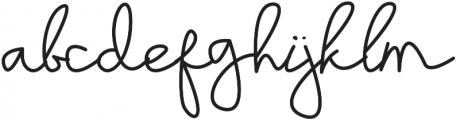 Sayyidati Regular otf (400) Font LOWERCASE