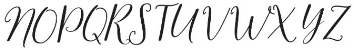 samanthaslant script otf (400) Font UPPERCASE