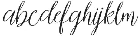 samanthaslant script otf (400) Font LOWERCASE