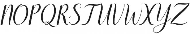 santosa Regular otf (400) Font UPPERCASE